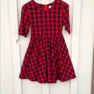 Red plaid dress, worn once.
